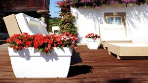 Bilde av Capri XL Plante Kasse Hvit 100 cm