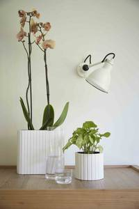 Bilde av Blomsterpotte Hvit med striper 17cm