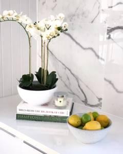 Bilde av Kunstig Orkide Hvit i Potte 60cm