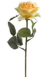 """Bilde av Kunstig Rose """"Simone"""" Gul 45cm"""